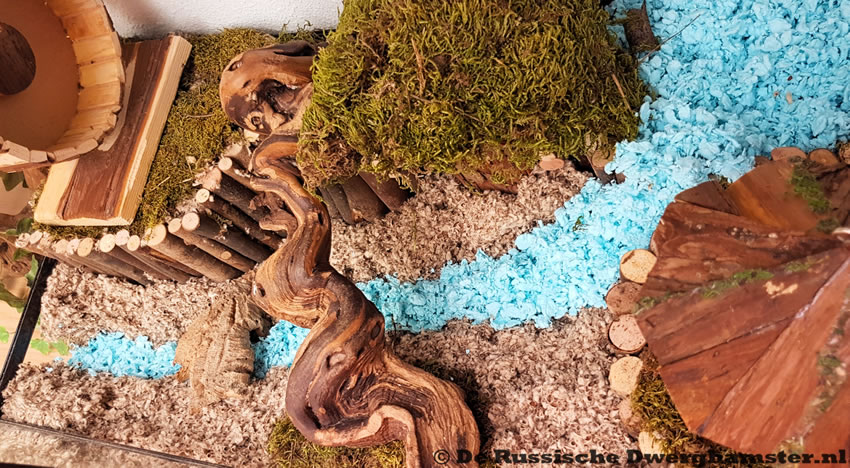 Hamsterscaping terrarium voor hamsters